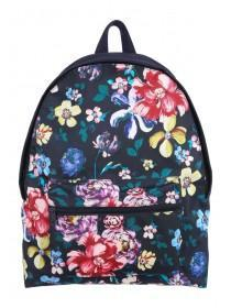 Older Girls Navy Floral Backpack