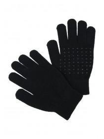 Womens Black Grip Gloves