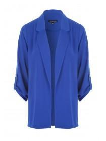 Womens Cobalt Blue Button Tab Blazer