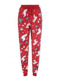 Womens Christmas Unicorn Pyjama Bottoms