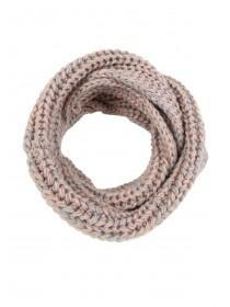 Womens Pink and Grey Snood Scarf