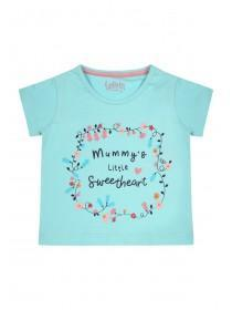 Baby Girls Blue Sweetheart Slogan T-Shirt