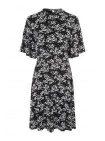 Womens Monochrome Floral Dress