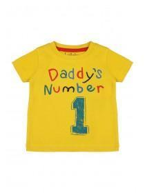 Baby Girls Yellow Number 1 Slogan T-Shirt