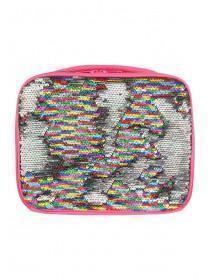 Rainbow Sequin Flip Lunch Bag