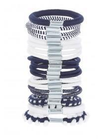 Girls 19pk Blue Hair Bobbles