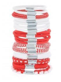 Girls 19pk Red Hair Bobbles