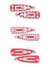 Girls 6pk Red Hairclips