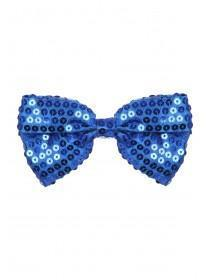 Girls Large Blue Bow Clip