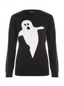 Womens Black Ghost Jumper