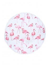 Large Circle Flamingo Towel