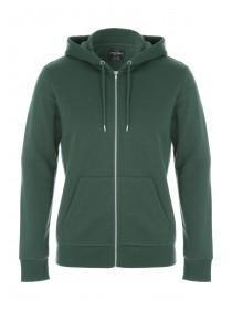 Mens Dark Green Zip Front Hoody