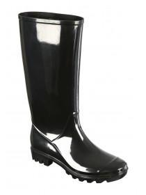 Womens Black Long Leg Wellies