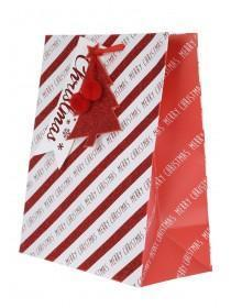 Red and White Merry Christmas Gift Bag