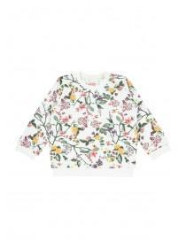 Baby Girls Cream Floral Sweater