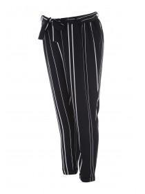 Maternity Monochrome Stripe Slim Leg Trousers