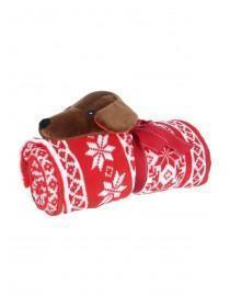 Red Sausage Dog Novelty Blanket