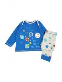 Baby Boys Blue Space Pyjama Set
