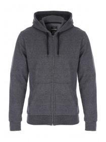 Mens Dark Grey Zip Through Hoody