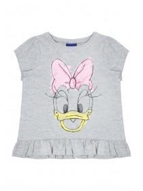 Younger Girls Grey Daisy Duck T-Shirt