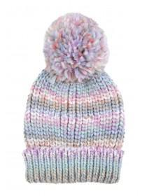 Womens Pastel Ribbed Hat