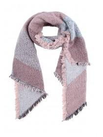 Womens Pink Panel Oversized Scarf