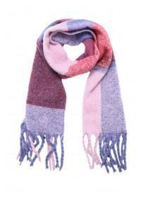 Womens Lilac Colour Block Oversized Scarf