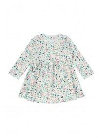 Baby Girls Grey Floral Dress