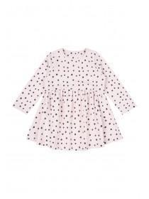 Baby Girls Pink Polka Dot Dress
