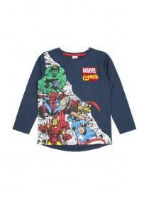 Younger Boys Navy Marvel T-Shirt