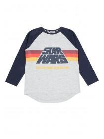 Younger Boys Grey Retro Star Wars T-Shirt