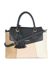 Womens Nude Colour Block Tote Bag