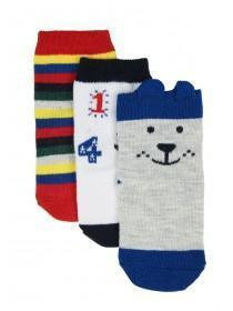 Baby Boys 3pk Blue Dog Socks