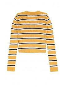 Older Girls Mustard Stripe Jumper