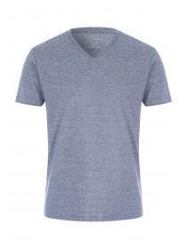 Mens Grey Fine Striped T-Shirt