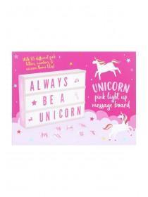 Pink Unicorn Light Up Message Board
