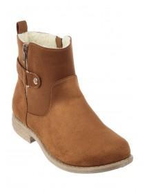 Womens Tan Faux Fur Lined Boots