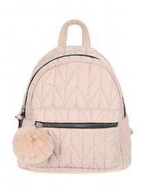 Womens Pale Pink Quilted Rucksack