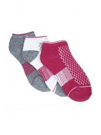 Womens 3pk Purple Trainer Socks