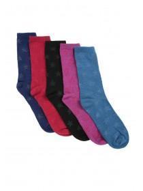 Womens 5pk Star Socks