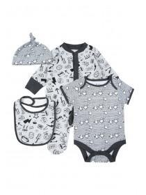 Baby Boys 4pc Grey Rock Gift Set