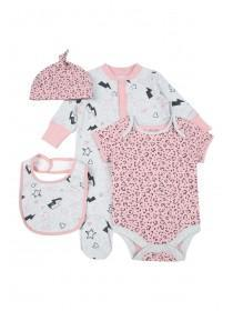 Baby Girls 4pc Pink Animal Gift Set