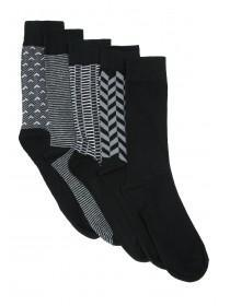 Mens 5pk Monochrome Socks