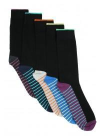Mens 5pk Stripe Socks