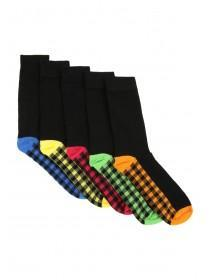 Mens 5pk Check Socks