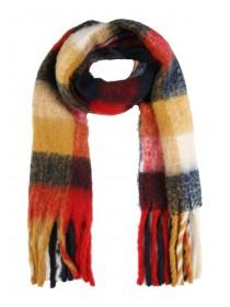 Womens Red Check Oversized Scarf