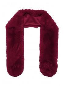 Womens Burgundy Faux Fur Stole Scarf