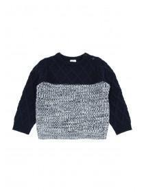 Baby Boys Navy Cable Knit Jumper