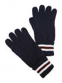 Mens Navy Stripe Gloves