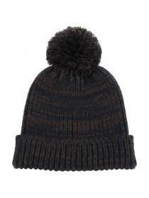 Mens Chocolate Pom Beanie Hat